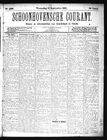 Schoonhovensche Courant 1921-09-21