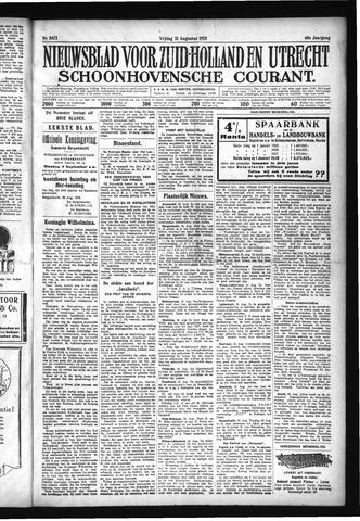 Schoonhovensche Courant 1928-08-31