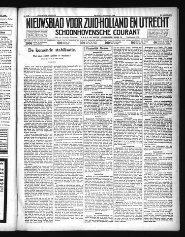 Schoonhovensche Courant 1935-02-08