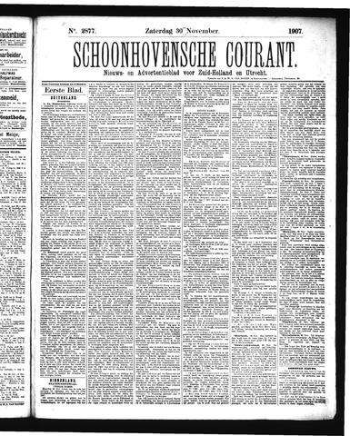 Schoonhovensche Courant 1907-11-30