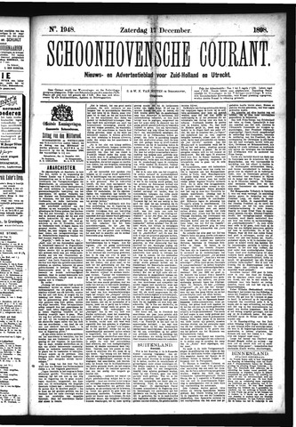 Schoonhovensche Courant 1898-12-17