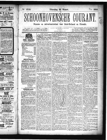 Schoonhovensche Courant 1916-03-28