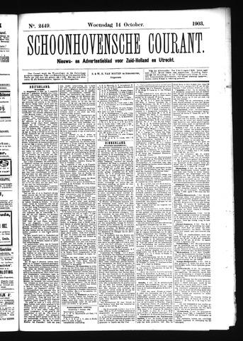 Schoonhovensche Courant 1903-10-14