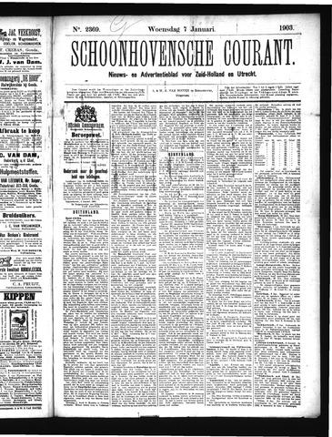 Schoonhovensche Courant 1903-01-07