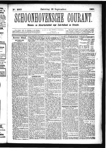 Schoonhovensche Courant 1908-09-26