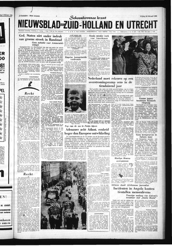 Schoonhovensche Courant 1961-02-10