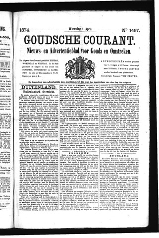 Goudsche Courant 1874-04-01