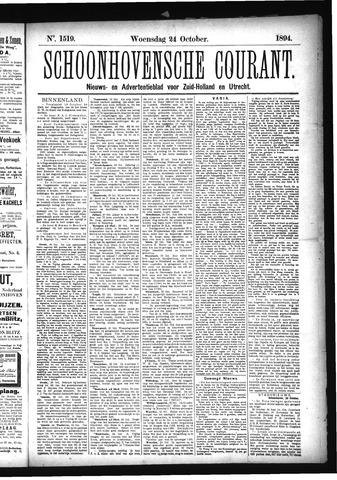 Schoonhovensche Courant 1894-10-24