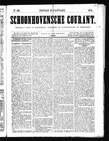 Schoonhovensche Courant 1874-01-25