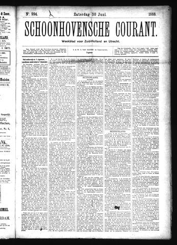 Schoonhovensche Courant 1888-06-30
