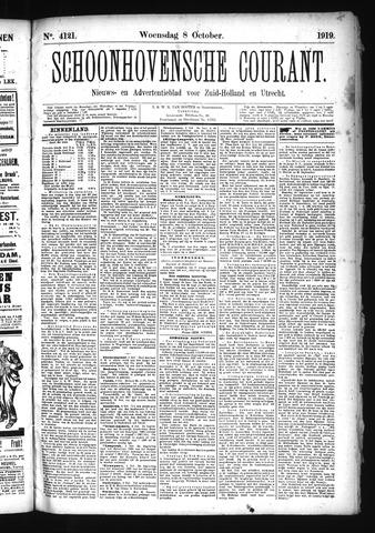 Schoonhovensche Courant 1919-10-08