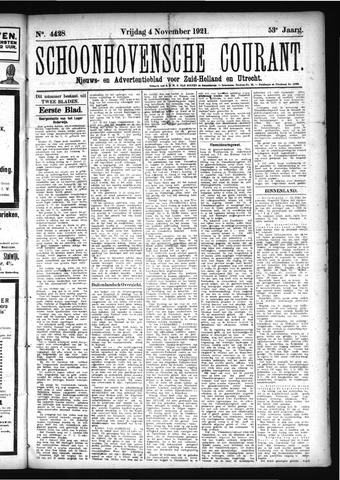 Schoonhovensche Courant 1921-11-04