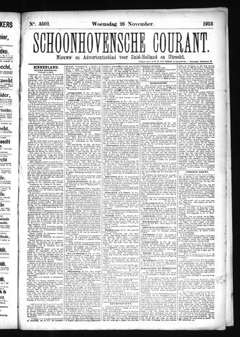 Schoonhovensche Courant 1913-11-26