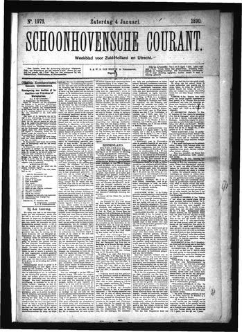 Schoonhovensche Courant 1890