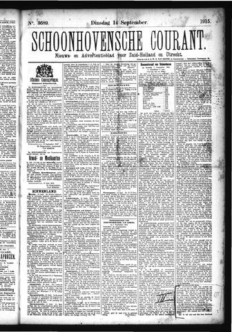 Schoonhovensche Courant 1915-09-14