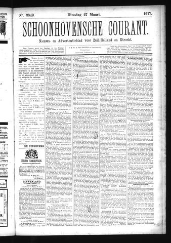 Schoonhovensche Courant 1917-03-27