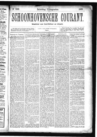 Schoonhovensche Courant 1888-08-11