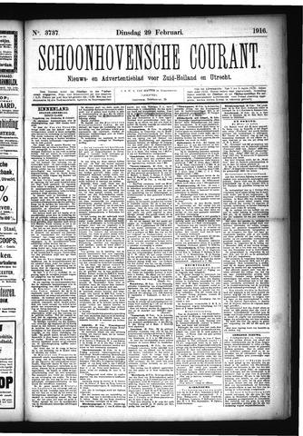 Schoonhovensche Courant 1916-02-29