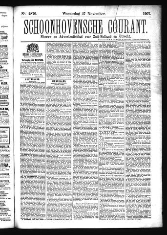 Schoonhovensche Courant 1907-11-27