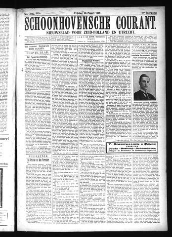 Schoonhovensche Courant 1925-03-13