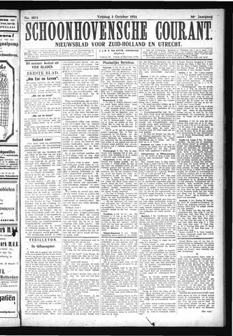 Schoonhovensche Courant 1924-10-03