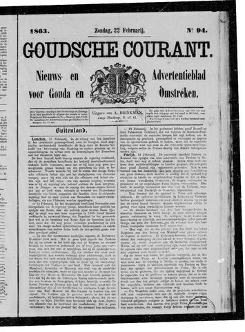 Goudsche Courant 1863-02-22