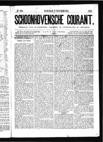Schoonhovensche Courant 1875-11-07