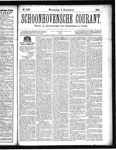 Schoonhovensche Courant 1891-12-02