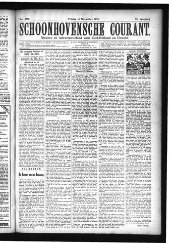 Schoonhovensche Courant 1923-11-16