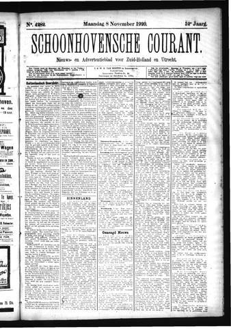 Schoonhovensche Courant 1920-11-08