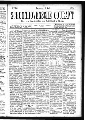 Schoonhovensche Courant 1891-05-02