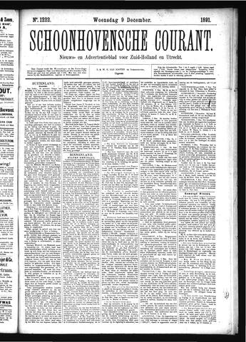 Schoonhovensche Courant 1891-12-09