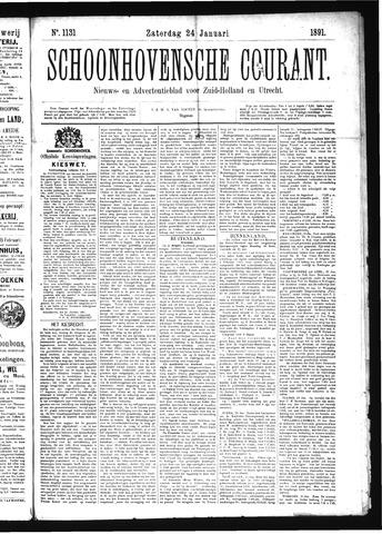 Schoonhovensche Courant 1891-01-24