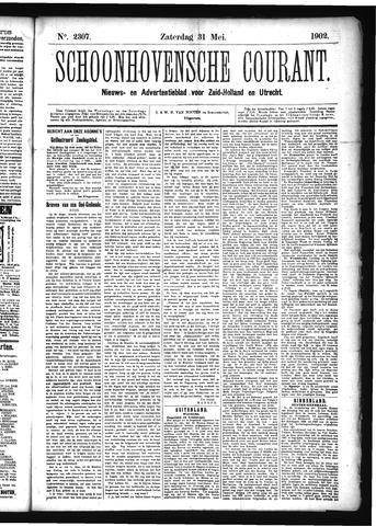 Schoonhovensche Courant 1902-05-31