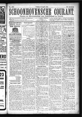 Schoonhovensche Courant 1923-04-20