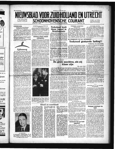 Schoonhovensche Courant 1952-01-16