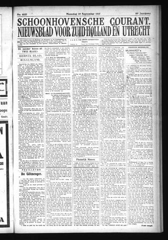 Schoonhovensche Courant 1927-09-19