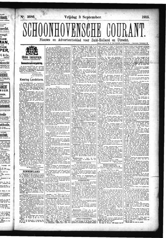 Schoonhovensche Courant 1915-09-03