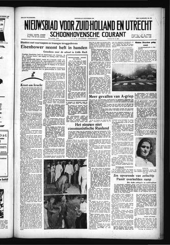Schoonhovensche Courant 1957-09-25