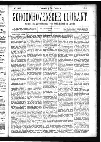 Schoonhovensche Courant 1892-01-30