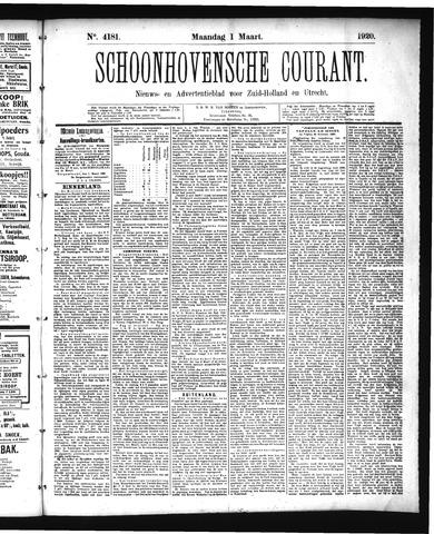 Schoonhovensche Courant 1920-03-01