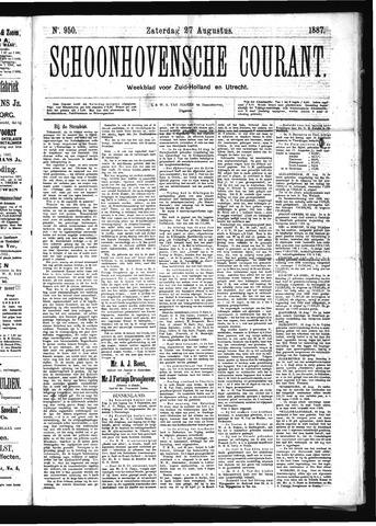 Schoonhovensche Courant 1887-08-27