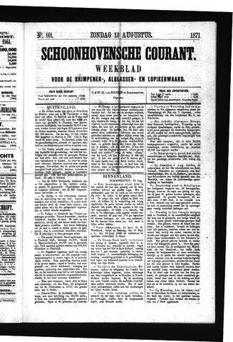 Schoonhovensche Courant 1871-08-13