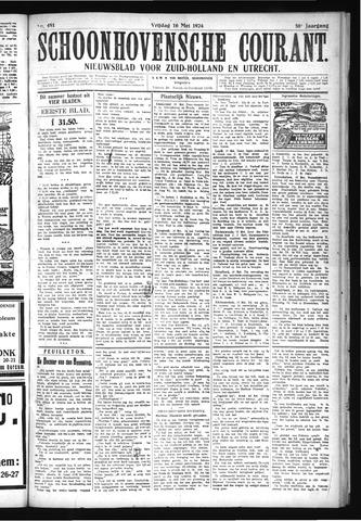 Schoonhovensche Courant 1924-05-16