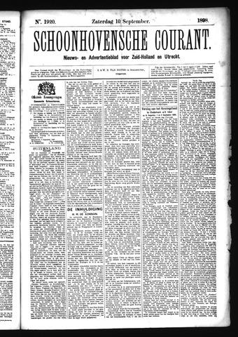 Schoonhovensche Courant 1898-09-10