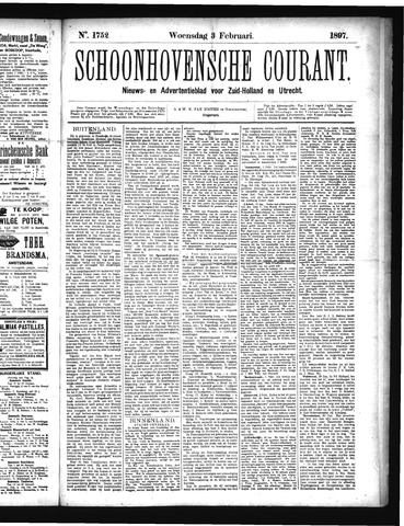 Schoonhovensche Courant 1897-02-03