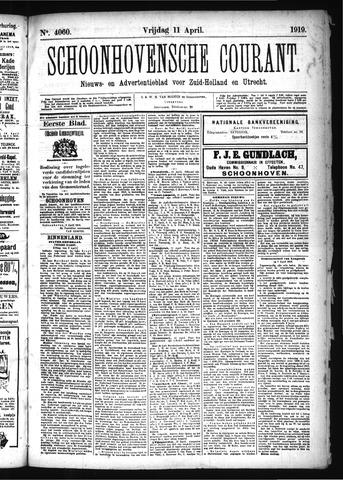 Schoonhovensche Courant 1919-04-11