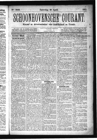 Schoonhovensche Courant 1911-04-29