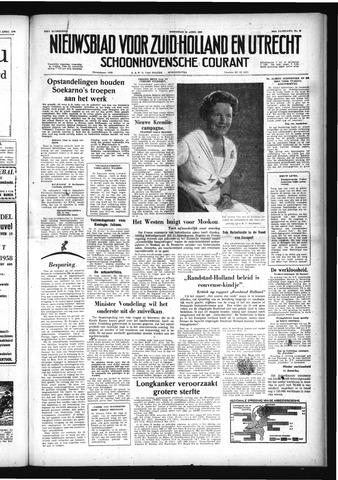 Schoonhovensche Courant 1958-04-30