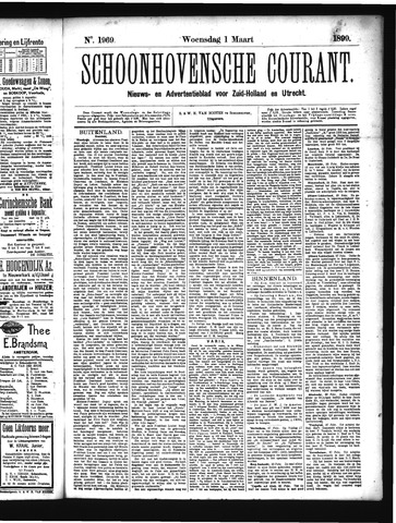 Schoonhovensche Courant 1899-03-01